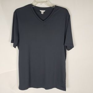 Calvin Klein Men's T Shirt Size M Gray V-Neck